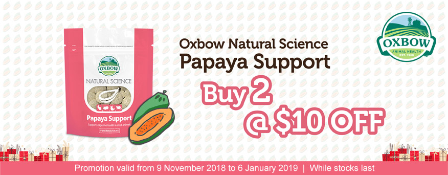 Oxbow Papaya Supplement promotion